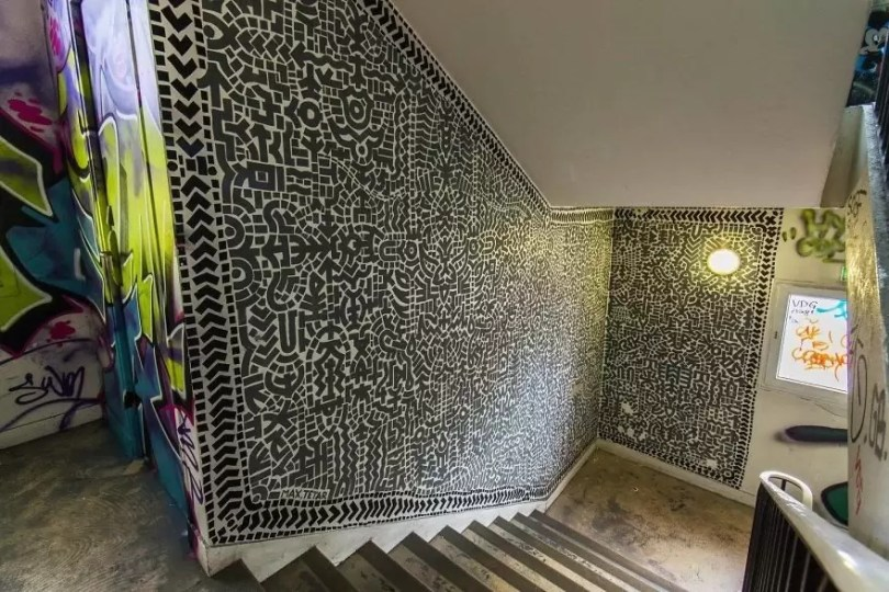 grafite pinturas artistas 15 - Grafiteiros pintam uma residência estudantil e o resultado chama atenção