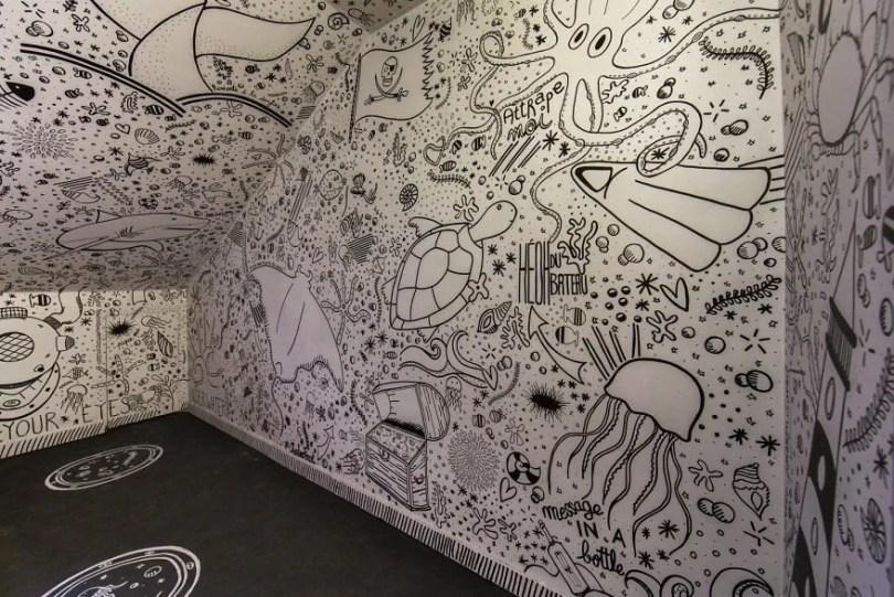 grafite pinturas artistas 3 - Grafiteiros pintam uma residência estudantil e o resultado chama atenção