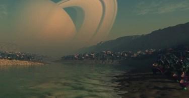 titã view of Saturn from titan 1024x640 - Space X confirma finalização de foguete que poderá levar um dia ser humano a Marte
