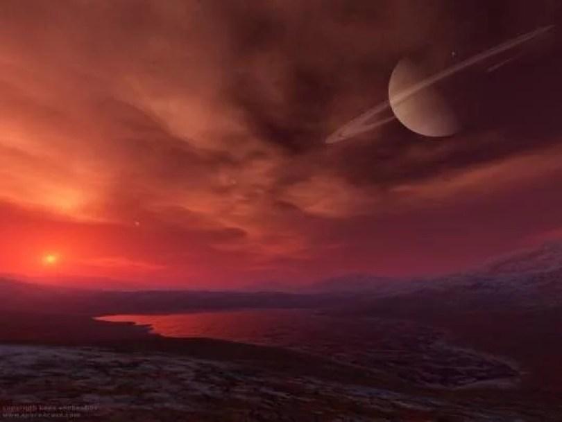 titan saturn sun 2 - Pesquisa aponta Titã como lugar apropriado para se colonizar