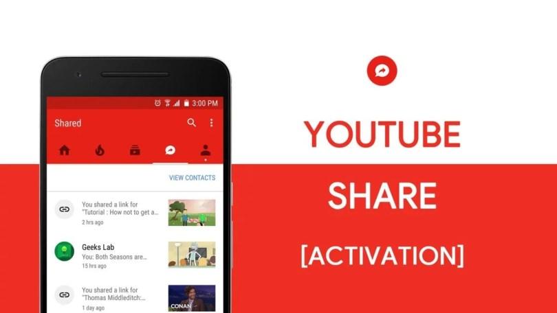 youtube share botão - Novidades do Youtube