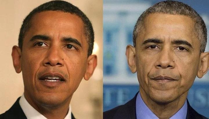 barack obama presidente - Fotos revelam que ser presidente envelhece mais rápido