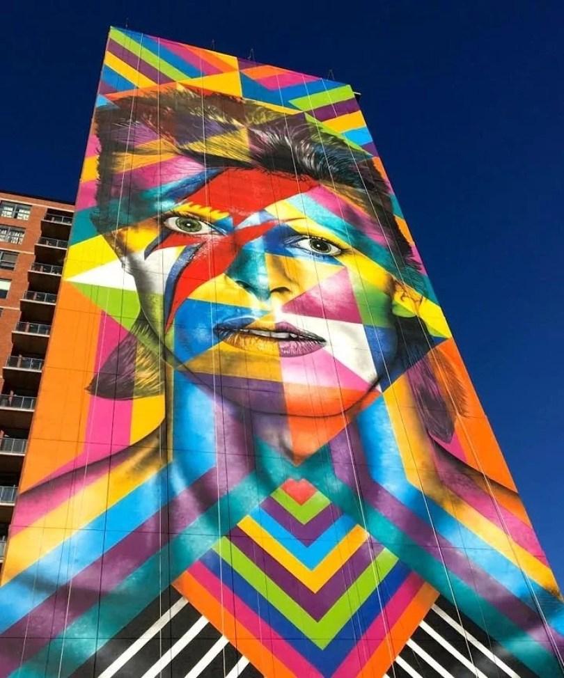mural Kobra close up bowie mural art Jersey City - Murais de Graffiti de Eduardo Kobra pelo mundo