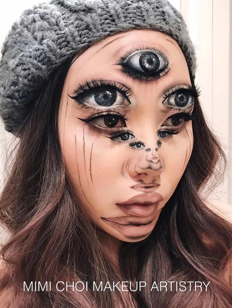 optical illusion make up mimi choi 35 59841f79bbd7f  880 - Maquiagem perfeita com ilusão óptica