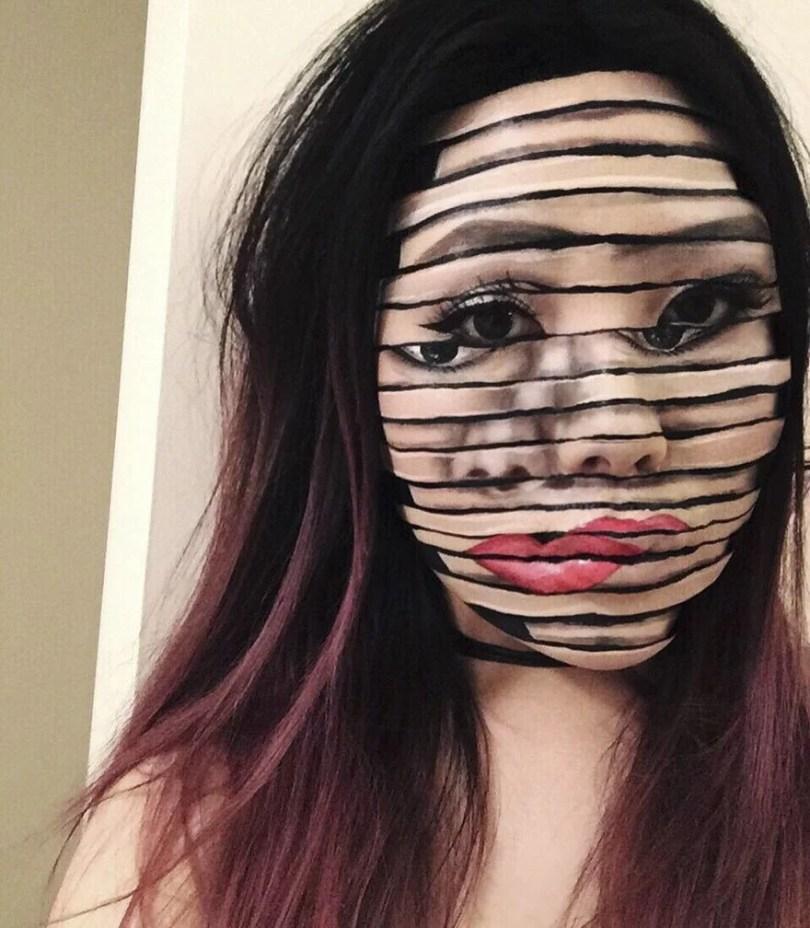 optical illusion make up mimi choi 598423ebbd772  880 - Maquiagem perfeita com ilusão óptica