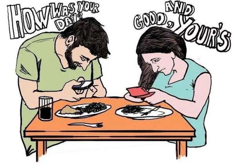 smartphone addiction illustrations cartoons 15  605 - Quanto mais você se conectar, menos você se conecta