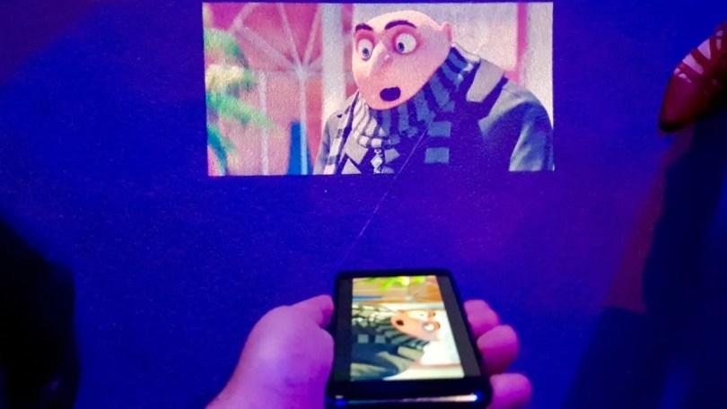 projetores no celular
