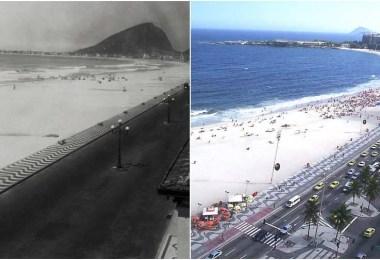 """viagem livre copacabana antes depois - Site mostra o """"antes e depois"""" e como o Mundo mudou ao longo dos tempos"""