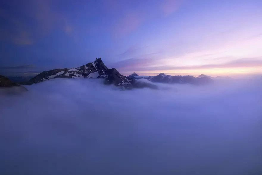 vista aerea montanha - O mundo acima das nuvens