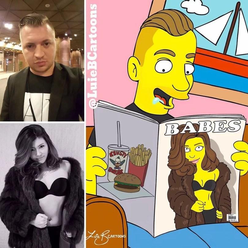 pessoas desenhadas como simpsons 10 - Você já pensou em se tornar um personagem do The Simpsons?