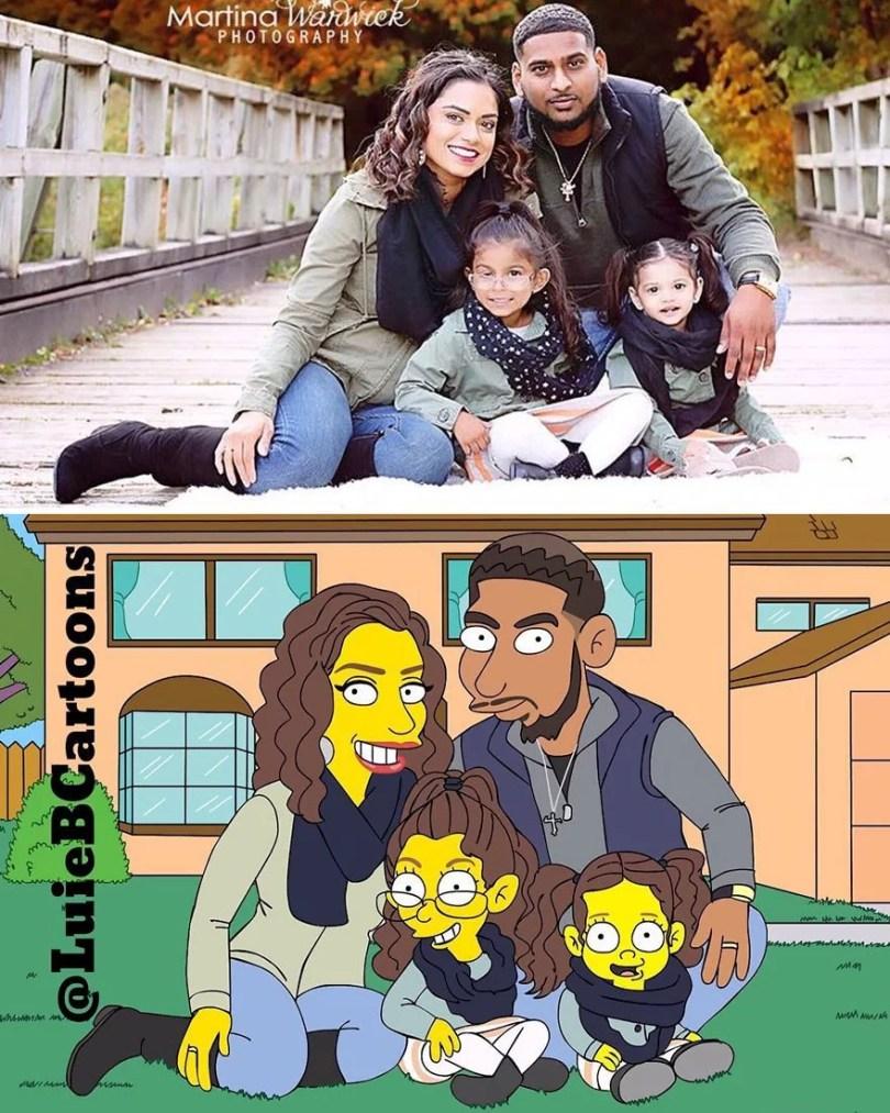 pessoas desenhadas como simpsons 41 - Você já pensou em se tornar um personagem do The Simpsons?