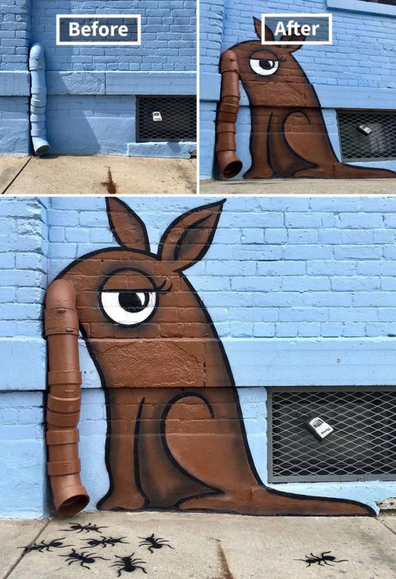 pintando as coisas 06 - Artista transforma lugares despercebidos em desenhos