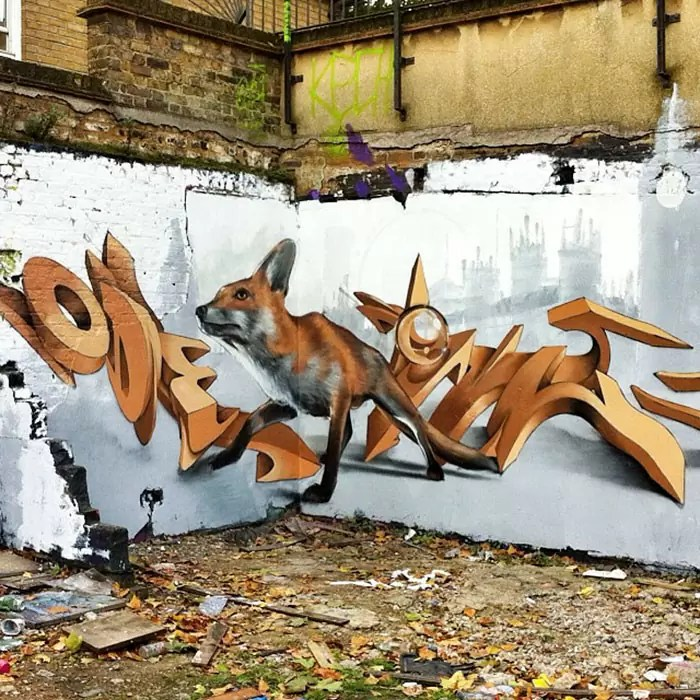 street art realistic 3d graffiti sergio odeith lisbon154 5b9bb30d26948  700 - Artista português pinta grafites e criaturas 3D pelas ruas
