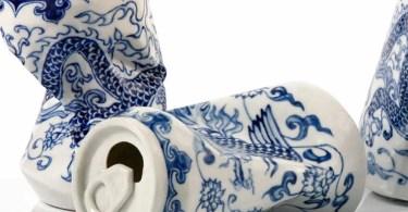Latas de refrigerante porcelain cans sculptures drinking tea lei xue 5 - Coincidências incríveis retratadas em fotografia #Parte5