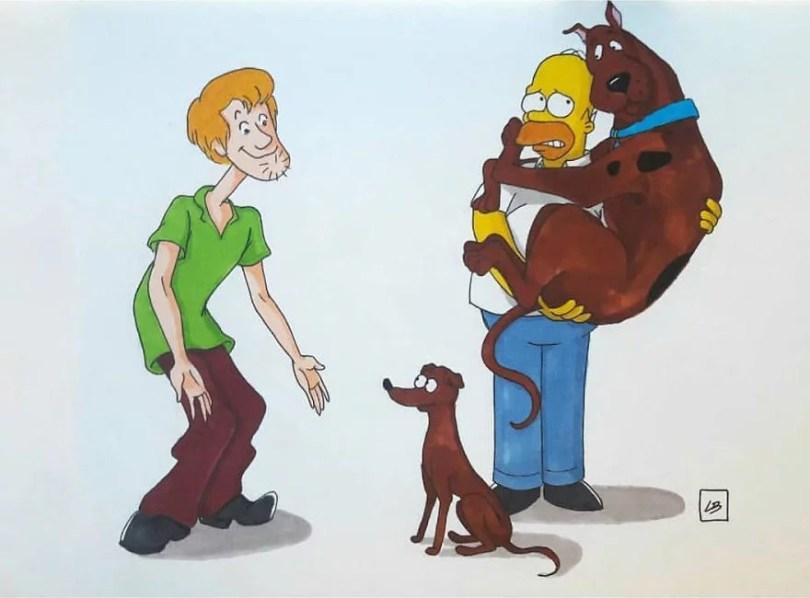 desenhista misutra desenhos7 - Desenhista troca animais de estimação de desenhos animados