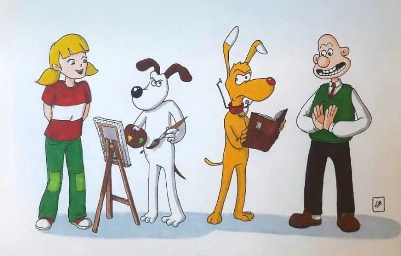 desenhista misutra desenhos9 - Desenhista troca animais de estimação de desenhos animados
