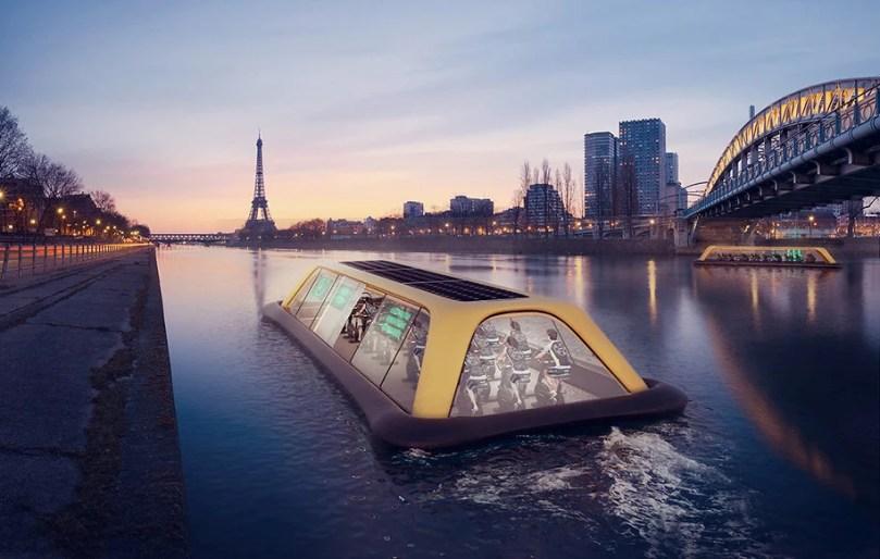 Ginásio Flutuante Em Paris Alimentado Por Seus Visitantes - Ginásio flutuante em Paris alimentado por seus visitantes