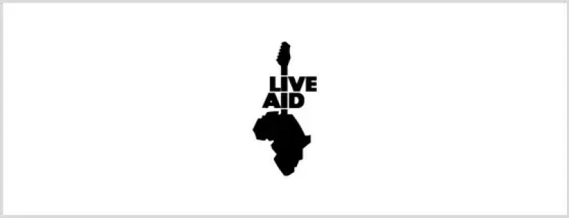 live aid logo 1985 queen - Bohemian Rhapsody: Compare cenas reais com as do filme