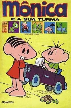 """Monicas gang cover Capa da primeira edição da Monicas Gang lançada em 1970. - Você já viu os vídeos gibi da Turma da Mônica em inglês? """"Monica's Gang"""""""