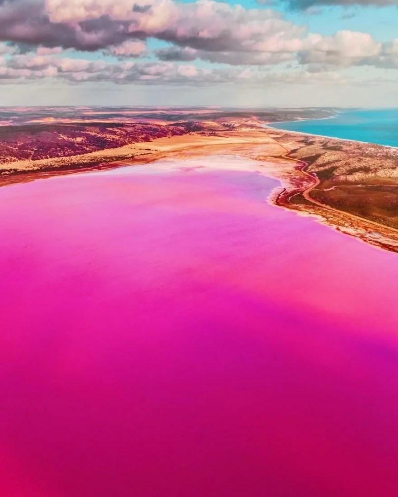 mar rosa 11 - Conheça a Lagoa Rosa Mágica da Australia