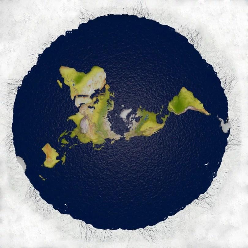 terra plana modelo - 7% dos brasileiros acreditam na Terra Plana