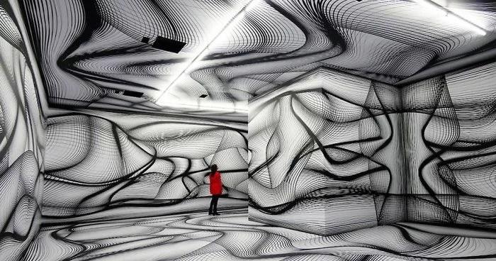 hypnotic rooms installation peter kogler fb9 png  700 - Mestre de instalação de arte e ilusões cria quartos hipnóticos