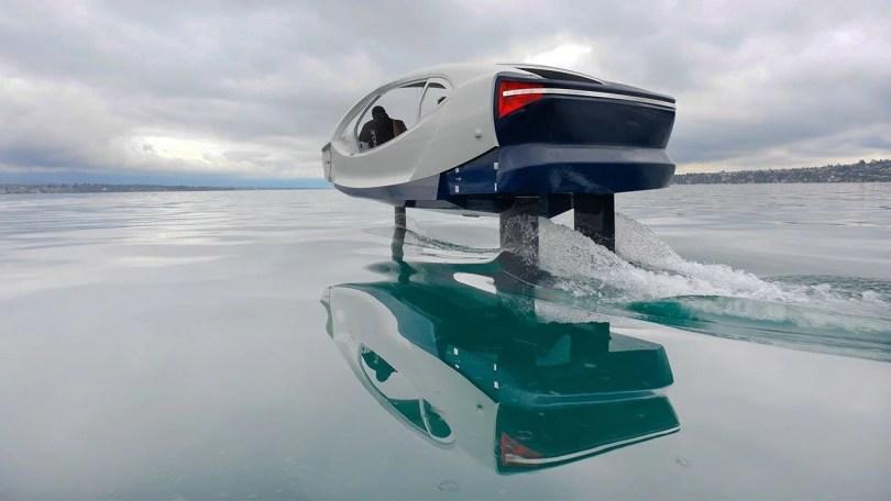 carros taxi aquatico - Protótipo de carro aquático é pego pela polícia por excesso de velocidade!