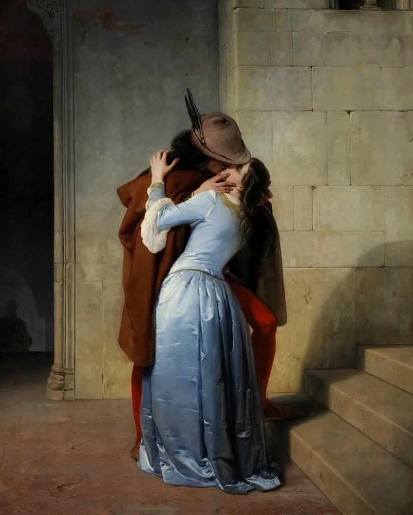 o primeiro beijo Pinacoteca de Brera Milán 1859 - Qual foi o primeiro beijo da história? O mais antigo?