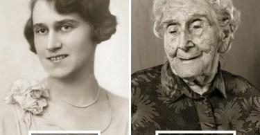 pessoas mais velhas do mundo antes e depois retrato antigo - Impressionante série de retratos: Centenários antes de depois