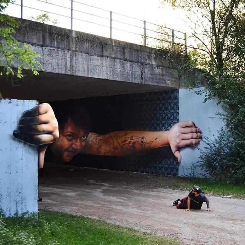 arte de rua em 3D 03 1 - Arte de rua em 3D que mexem com nossa mente!