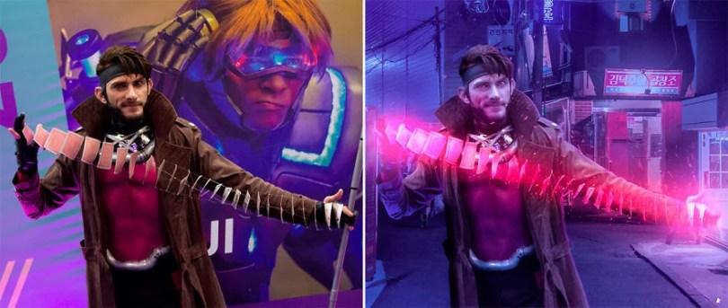cosplay photoshop 01 - Ele fotografou Cosplayers e os inseriu em Pôsteres