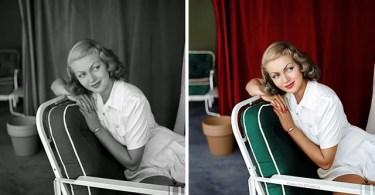 "Olga Shirinina ""Klimbim"" - Fotos antigas coloridas de estrelas clássicas de Hollywood"
