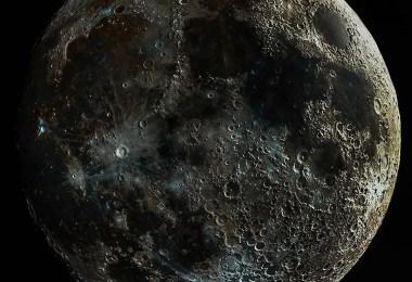 lua impossivel linda evibrante - A foto impossível da Lua