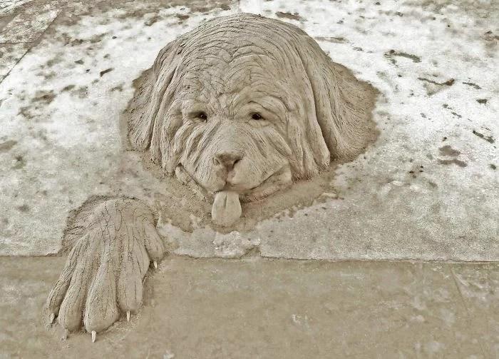 melhor escultor de areia do mundo sand art bull andoni 18 - As impressionantes esculturas realistas de areia de Andoni Bastarrika