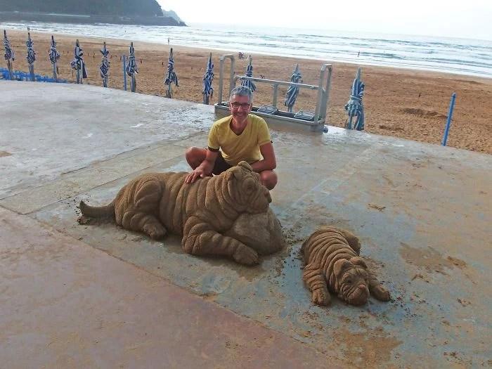 melhor escultor de areia do mundo sand art bull andoni 31 - As impressionantes esculturas realistas de areia de Andoni Bastarrika