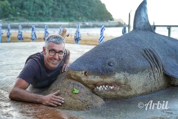 melhor escultor de areia do mundo sand art bull andoni 39 - As impressionantes esculturas realistas de areia de Andoni Bastarrika