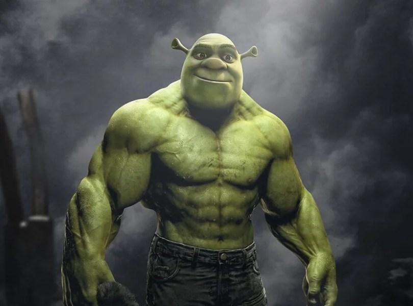 shrek forte bonito musculoso feio ogro