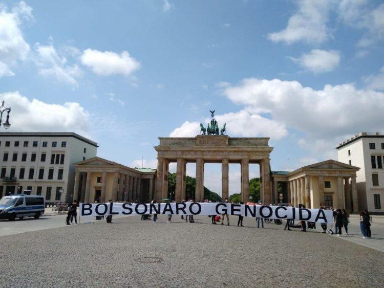 Ato Fora Bolsonaro em Berlim (Alemanha). Foto: André Henrique