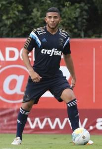 Mateus Muller, promessa da base palmeirense. Créditos: Cesar Greco/Ag Palmeiras/Divulgação