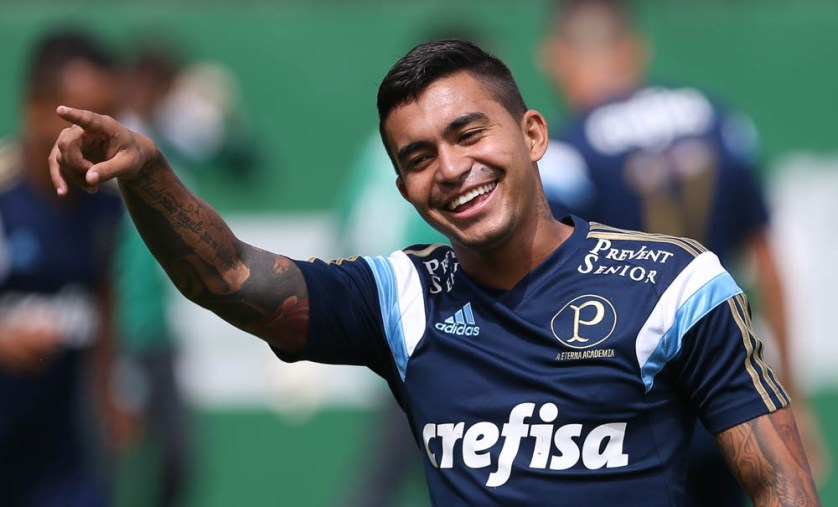 Em dez partidas com a camisa do Palmeiras, Dudu marcou dois gols. (Cesar Greco/Ag. Palmeiras/Divulgação)