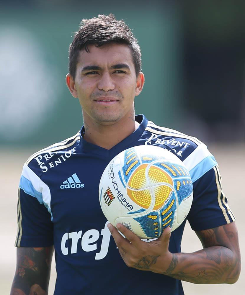 Dudu se diz encantado com o carinho do torcedor do Palmeiras (Cesar Greco/Ag. Palmeiras/Divulgação)