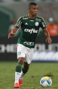 Gabriel Jesus vem se destacando nos treinamentos do Palmeiras e sido presença constante nos jogos (Cesar Greco/Ag Palmeiras/Divulgação)