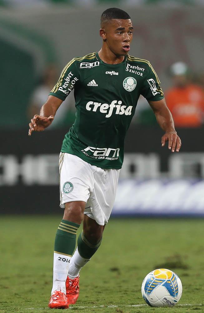 Gabriel Jesus vem se destacando nos treinamentos do Palmeiras (Foto: Cesar Greco/Ag Palmeiras/Divulgação)