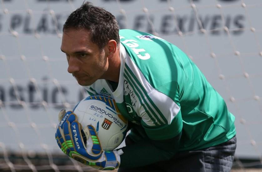 Fernando Prass sonha com título do Palmeiras (Cesar Greco/Ag Palmeiras/Divulgação)