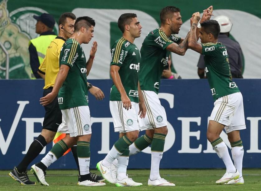 Rafael Marques marcou dois gols na vitória sobre o São Paulo. (Cesar Greco/Ag. Palmeiras/Divulgação)