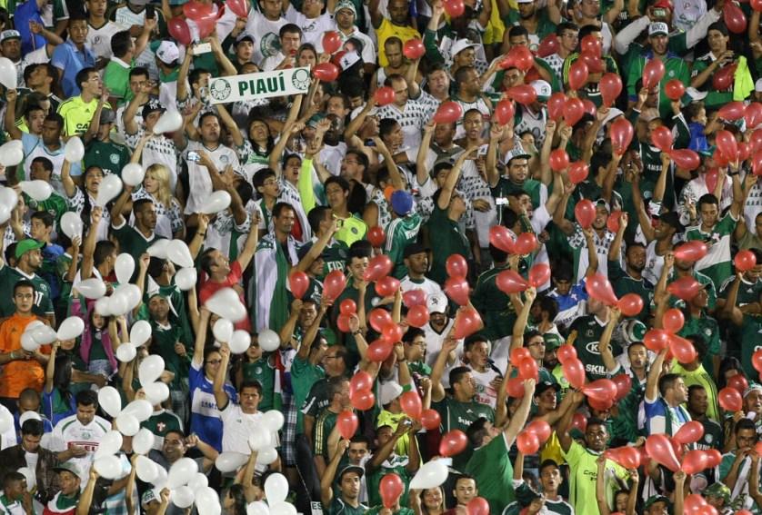 """""""Fiquei feliz por ver a torcida me apoiando, por querer me ver jogar, mas eu peço calma. Tudo tem seu tempo"""" - Cesar Greco/Ag.Palmeiras/Divulgação"""