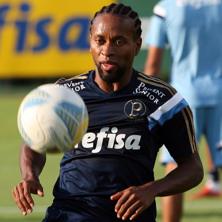 O lateral Zé Roberto deixou de lado o cabelo black power e inovou no visual. (Fabio Menotti/Ag Palmeiras/Divulgação)
