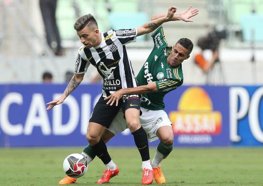 O volante Gabriel foi importante na vitória do Verdão sobre o Santos neste domingo (26). (Cesar Greco/Ag Palmeiras/Divulgação)