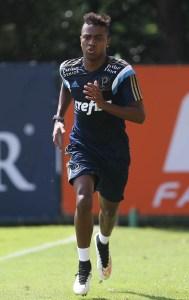 Kelvin será inscrito na fase final (Cesar Greco/Ag Palmeiras/Divulgação)