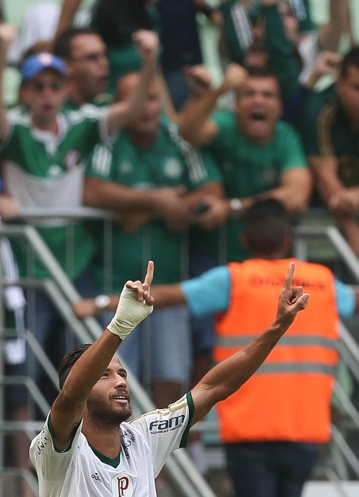 Leandro Pereira fez o gol da classificação nas quartas de final do Paulista. (Cesar Greco/Ag. Palmeiras/Divulgação)
